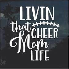 Cheer Mom Life Window Decal Sticker Custom Sticker Shop