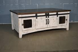 solid wood barn door coffee table