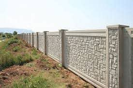 Boundary And Perimeter Walls Get Precast Concrete Forming Systems Aftec Llc In 2020 Compound Wall Design Fence Wall Design Boundary Walls