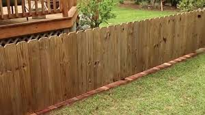 How To Add A Brick Border Under A Fence Checking In With Chelsea Brick Fence Modern Fencing And Gates Backyard Fences