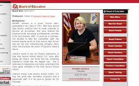 Vote Out Annette Johnson: Did Annette Johnson violate Board policy by using  a District logo on her private business account?