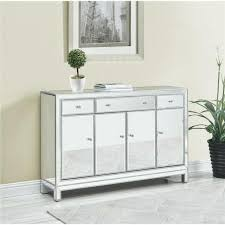 mirrored buffet cabinet antique silver