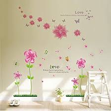 Colorful Decals C Pink Love Petal Flowers Butterflies Removable Wall Decals Large Wall Stickers Home Decor Amp Murals Wall Decal Wallpaper And Wall Decor Decorative Painting Supplies Amp Wall Sticker For Living Room Bedroom