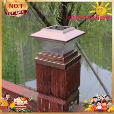 Solar Power Led Pillar Lamp Outdoor Garden Fence Lamp Yard Post Cap Lights Rieccy Ph Shopee Philippines