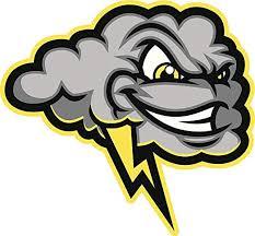 Amazon Com Ew Designs Evil Smiling Gray Thunder Rain Cloud Cartoon Vinyl Decal Bumper Sticker 4 Wide Kitchen Dining