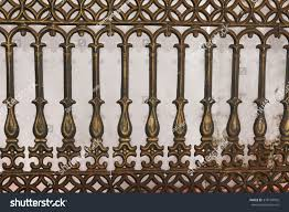 Wrought Iron Gate Door Fence Window Objects Stock Image 378194992