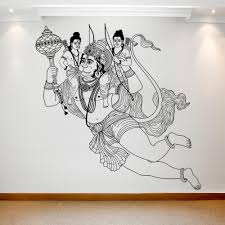Indian God Hanuman On The Wall Best Deals With Free Uk Standard Delivery Mizzli