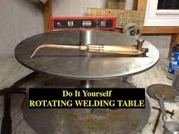 diy rotating welding table positioner