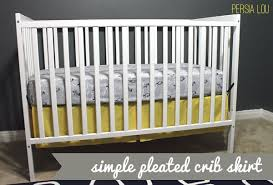 make a simple pleated crib skirt