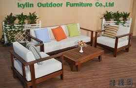 living room wood sofa set design