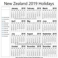 new zealand national holidays 2019