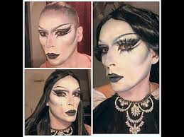 film noir inspired drag makeup tutorial