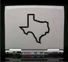 Texas State Outline Die Cut Vinyl Decal Sticker Decals City
