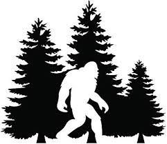 Amazon Com Bigfoot Trees Forest Vinyl Decal Sticker Car Truck Van Suv Window Wall Cup Laptop One 5 5 Inch Black Decal Mks0678b Automotive