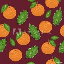 mandarin seamless pattern vector