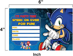 Tarjetas De Invitacion Sonic Speed On Over 25 Invitaciones Para