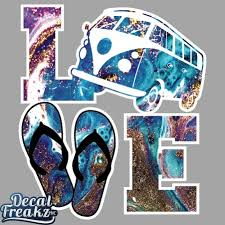 Geode Vw Bus Love Decal Decal Freakz