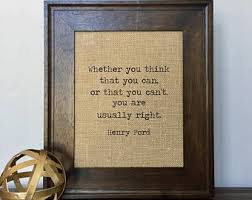Henry Ford Quote Etsy