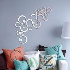 Fashion Circles Mirror Style Removable Decal Vinyl Art Wall Sticker Home Decor In Wall Stickers From Ho Decoracion De Unas Pegatinas De Pared Diseno De Muebles