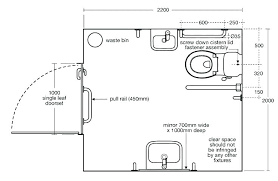 handicap bathroom size image of
