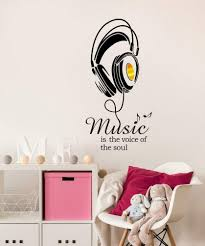 Mix Decor Letter Wall Decal Music Sign Wall Sticker Office Livingroom Kid Baby Nursery Room Decoration Wall Art Vinyl Decals Stickers Quotes And Sayings Decor 19 7x38 6 Inch Black Gold Buy Online