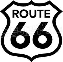 Route 66 2 Decal Sticker Decalmonster Com