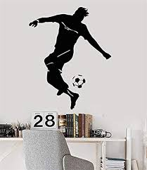 Amazon Com Soccer Wall Decals For Boys Room Football Wall Art Decor Vinyl Stickers For Kids Bedroom Sports Player Ball Shoes Team For Football Fans Decorations Sp009 Home Kitchen