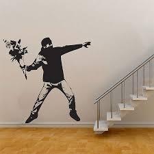 Banksy Flower Thrower Graffiti Vinyl Wall Art Decal