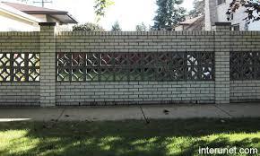 Brick Fence With Decorative Concrete Blocks Picture Interunet
