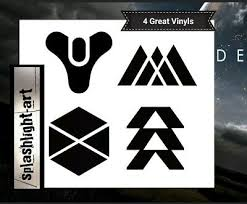 4x 10cm Destiny 2 Logo Car Wall Vinyl Sticker Game Decal Ps4 Xbox Ebay