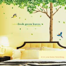 Hot Deal Af947 Giant Tree Green Leaves Large Branch Wall Decals Removable Pvc Wall Stickers For Living Room Bedroom Bedside Decoration Murals Cicig Co