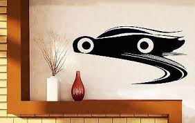 Wall Stickers Vinyl Decal Racing Car Brake Wheel Track Bumper Unique Wallstickers4you