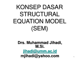 konsep dasar structural equation model