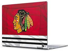 Amazon Com Skinit Decal Laptop Skin For Pixelbook Officially Licensed Nhl Blackhawks Red Stripes Design Electronics