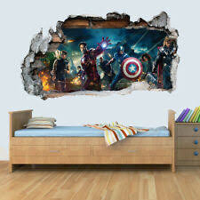 28 Avengers Assemble Wall Decals Marvel Room Stickers Boys Bedroom Decor For Sale Online Ebay