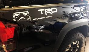 Stormtrooper Side Vinyl Stickers Decal Fit To Tacoma 13 19 Or Tundra 13 19 Fit To Trd In 2020 Toyota Tacoma Trd Toyota Tacoma 2016