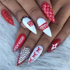 acrylic nails louis vuitton new
