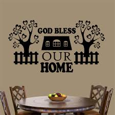 Christian Wall Decal God Bless Our Home Family Blessings