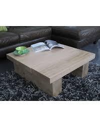 solid oak 3 board square coffee table