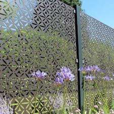 Motif Decorative Screening Fence Panel In Powder Coated Aluminium 5ft 8 Inches 597 99