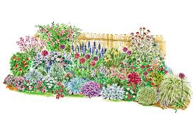 Garden Plan To Soften A Fence Better Homes Gardens