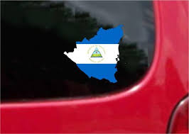 Nicaragua Outline Map Flag Vinyl Decal Sticker Full Color Weather Proo Customvinyldecals