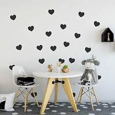Decowall Dwg 706pi Lovely Hearts Graphic Stickers Gold Kids Wall Decals Wall Stickers Window Stickers Peel And Stick Wall Stickers For Kids Nursery Bedroom Living Room Wall Stickers Murals