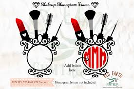 makeup beauty glamour monogram frame in