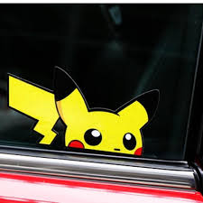 Car Decals Stickers Decal Pikachu Pokemon Windscreen Car Accessories Accessories On Carousell