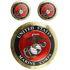 Marine Corps Decal With Gold Foiling Sgt Grit