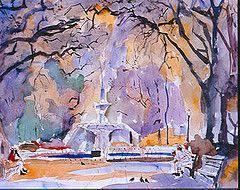 Southern Artist Myrtle Jones - Forsyeth Park #SavannahGA ...
