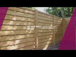 horizontal hit and miss fence panels