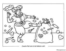 Zwarte Piet Eet Zelf Ook Pepernoten Kleurplaat
