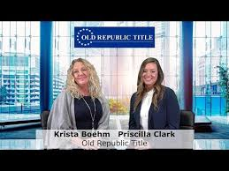 Old Republic Title with Krista Boehm and Priscilla Clark - YouTube